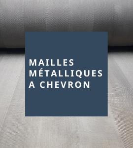 Maille métallique à chevron