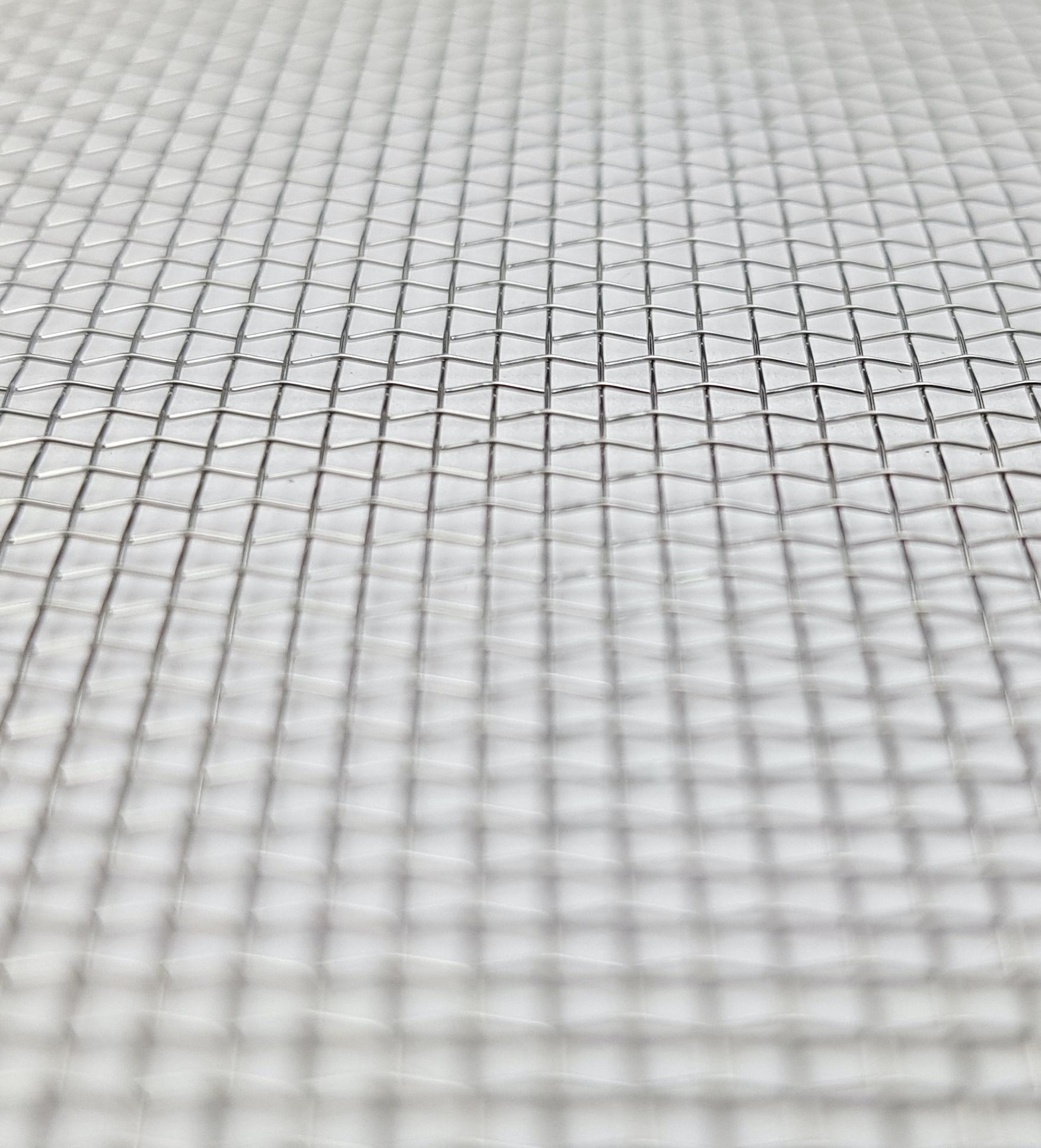 Tissu métallique uni ou croisé